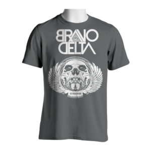 Grey Skull Heart T-Shirt