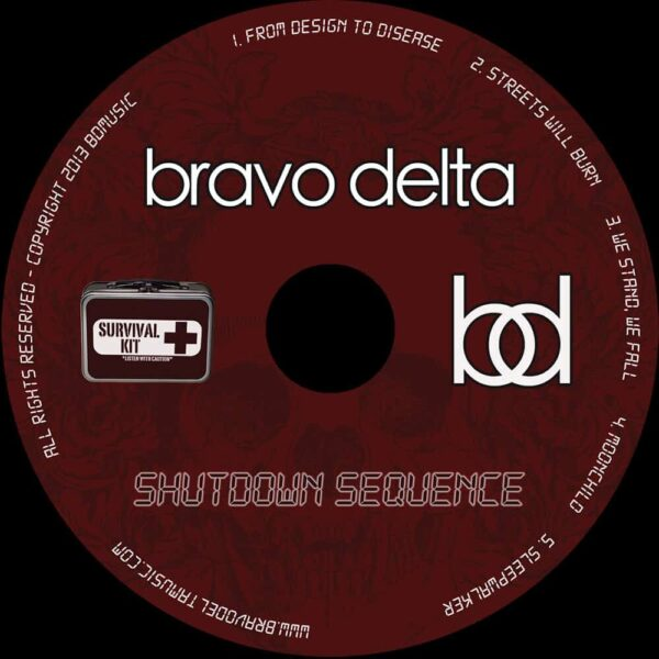 Shutdown Sequence cd art by Bravo Delta