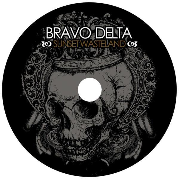 Sunset Wasteland cd art by Bravo Delta